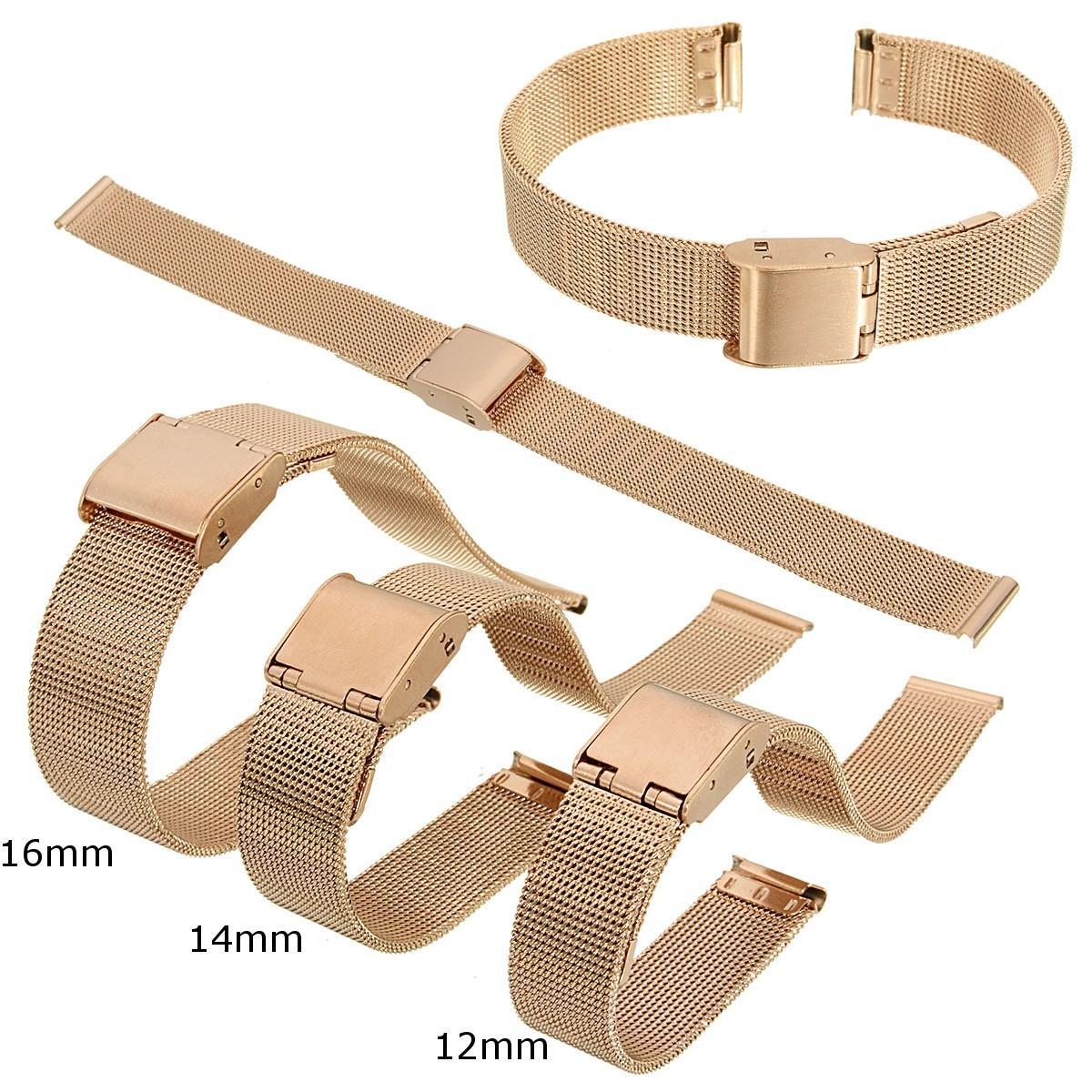 16mm Stainless Steel Mesh Wristwatch Band Straps Watch BraceletsRepair