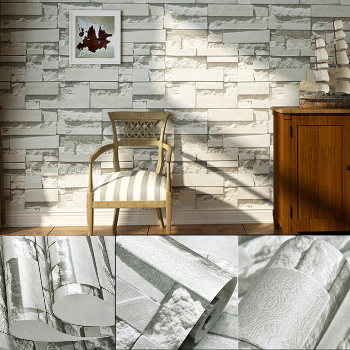 3d brique papier peint fond tv mur wallpaper decor salon chambre h tel achat vente. Black Bedroom Furniture Sets. Home Design Ideas