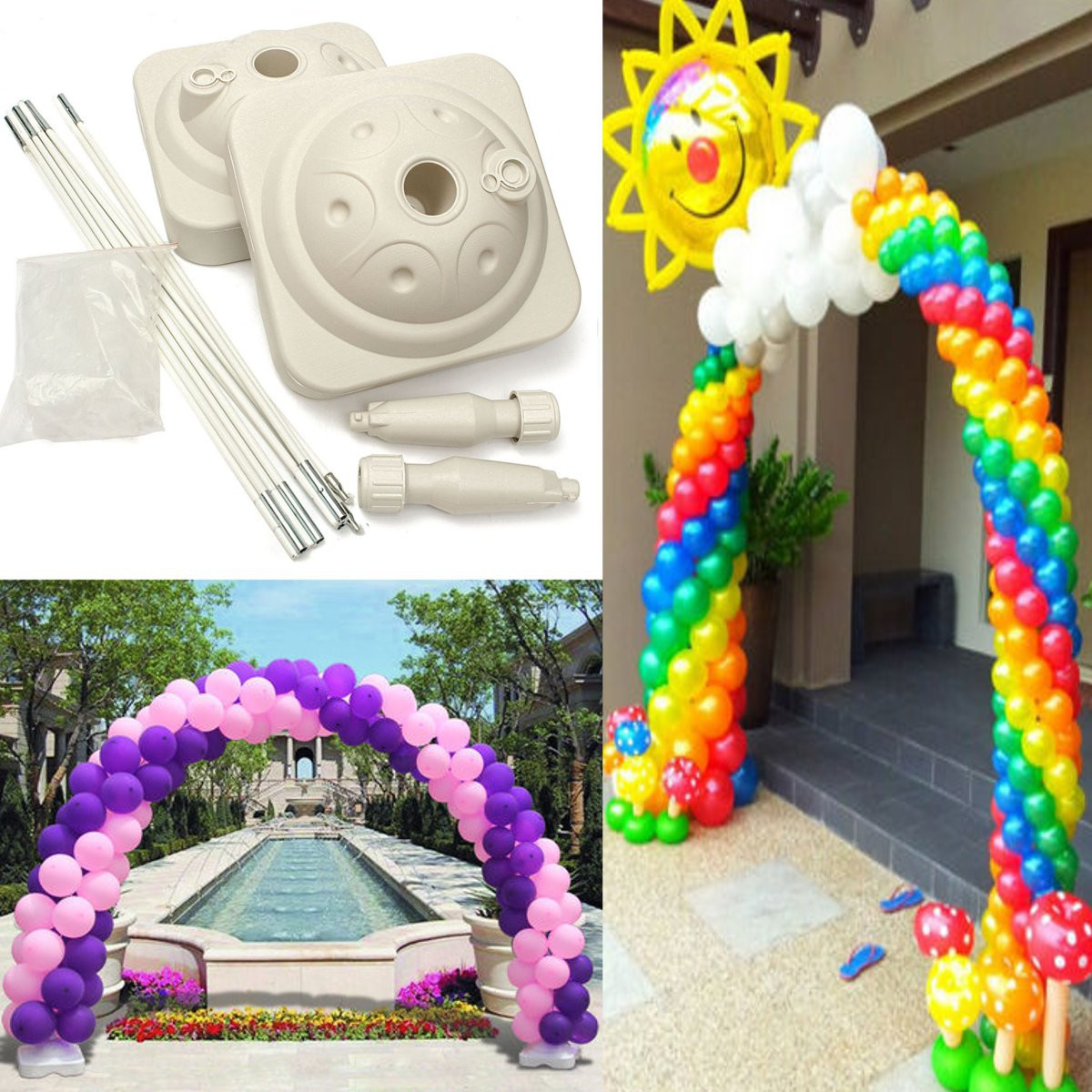 Wedding all occasions balloon arch frame use air filled for Balloon decoration for wedding malaysia