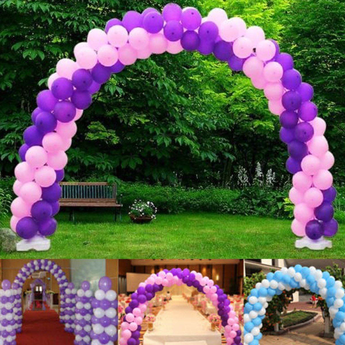 5x3 6m balloon arch kit column base stand water party for Balloon arch decoration kit