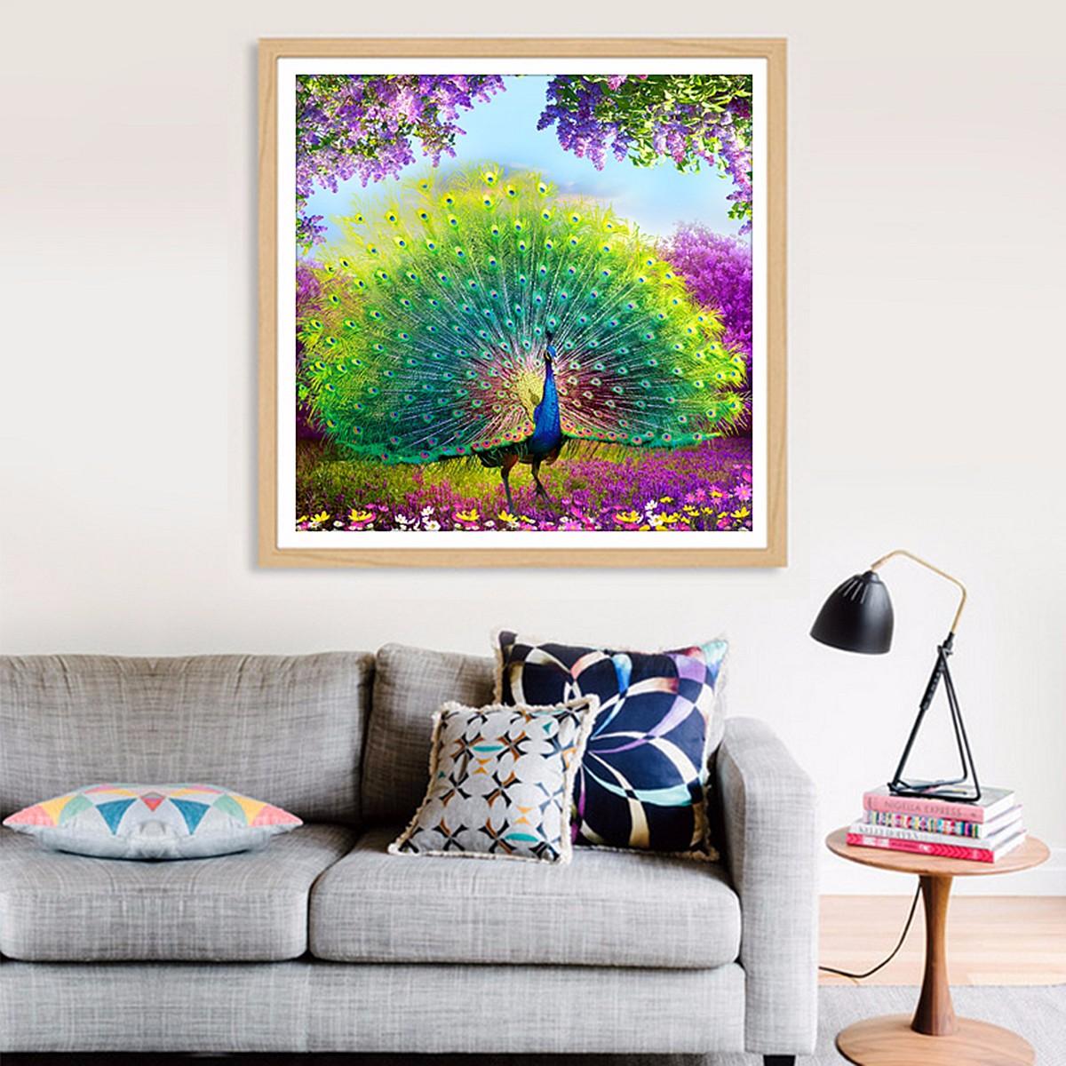 DIY 5D Diamond Embroidery Painting Flower Peacock Mosaic Cross Stitch Home Decor | Lazada Singapore