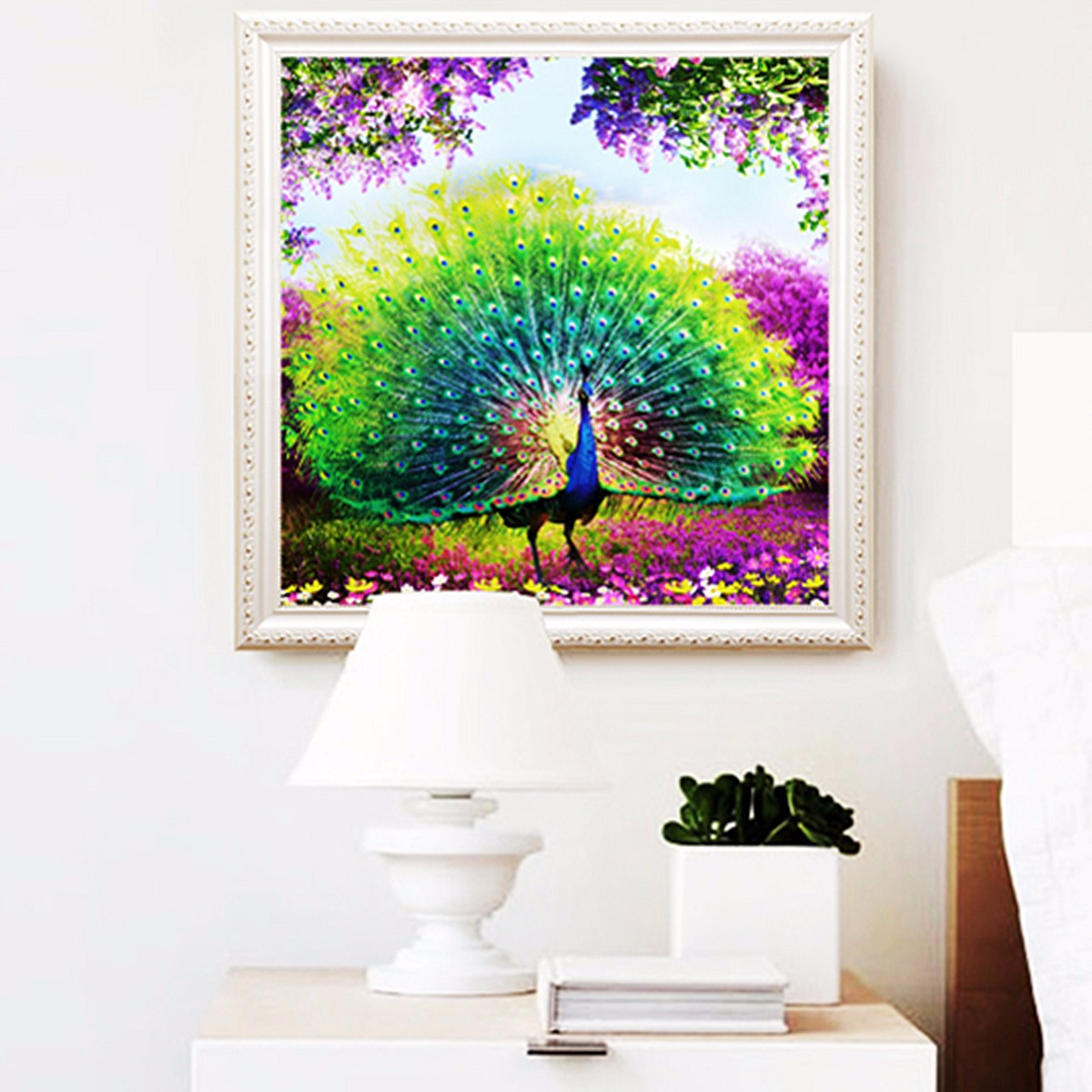 DIY 5D Diamond Embroidery Painting Flower Peacock Mosaic CrossStitch ...