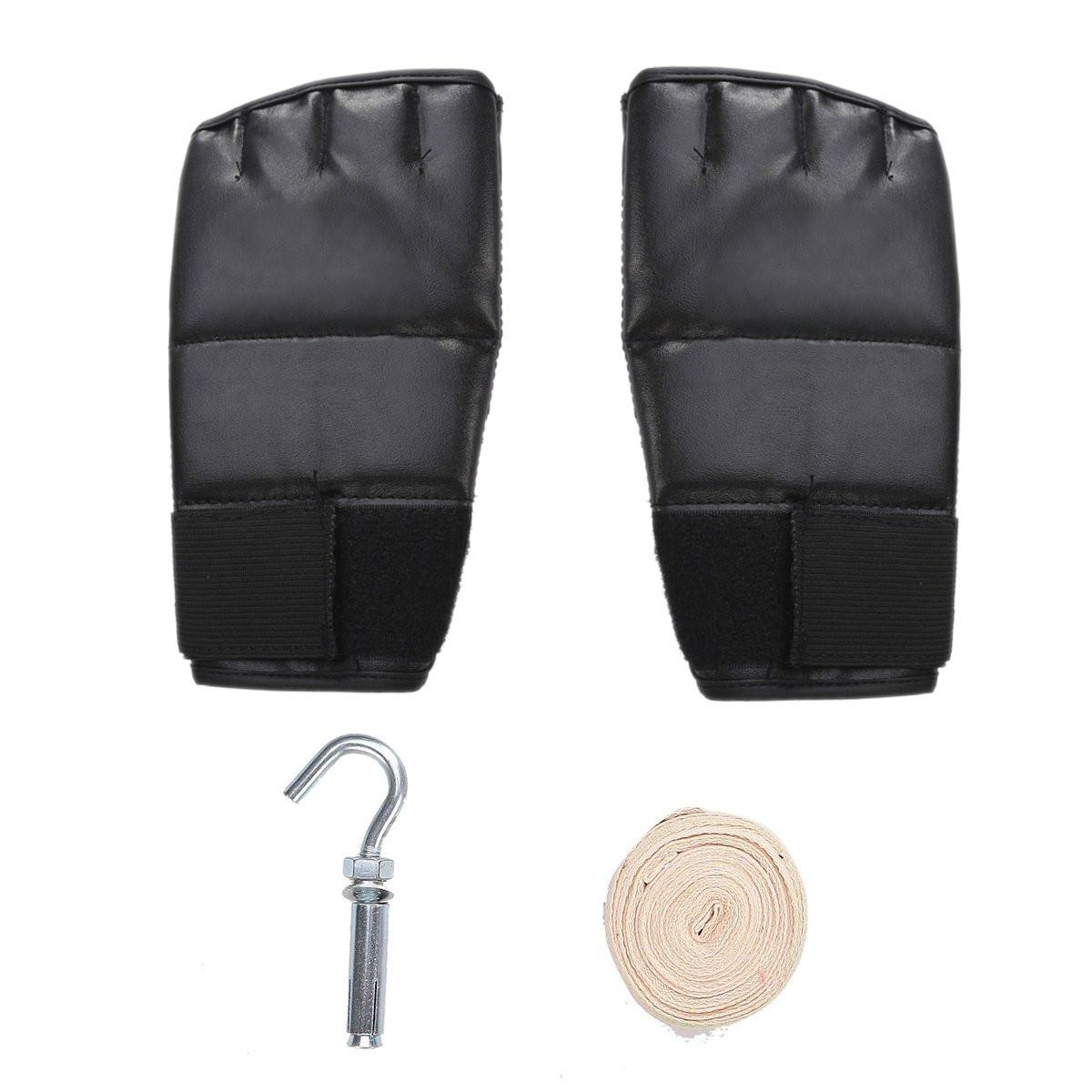 sac de frappe boxing sport fitness combat punching boxe gants crochet wrap prix pas cher. Black Bedroom Furniture Sets. Home Design Ideas