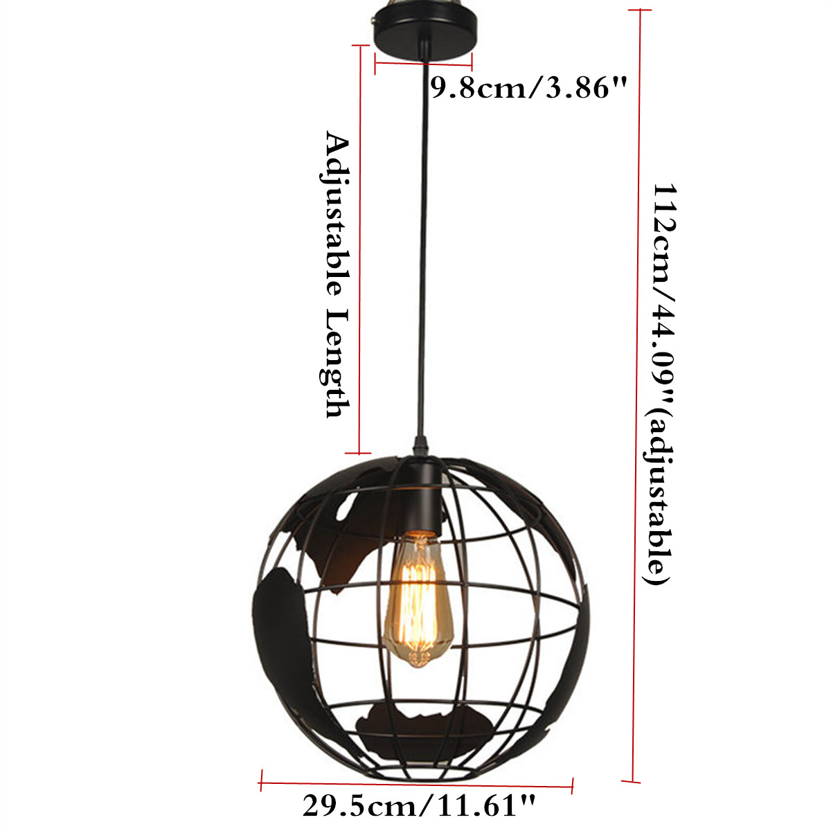 lampe globe terrestre plafonnier suspension eclairage. Black Bedroom Furniture Sets. Home Design Ideas