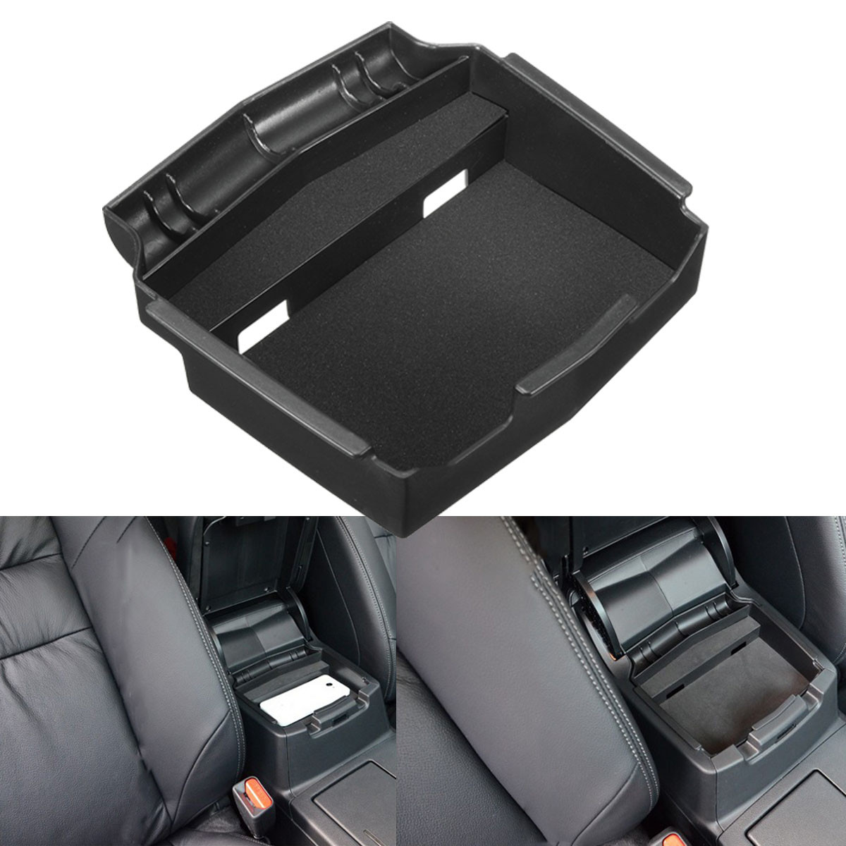 bo te de rangement accoudoir central noir voiture auto pour honda crv 2012 2016 achat vente. Black Bedroom Furniture Sets. Home Design Ideas