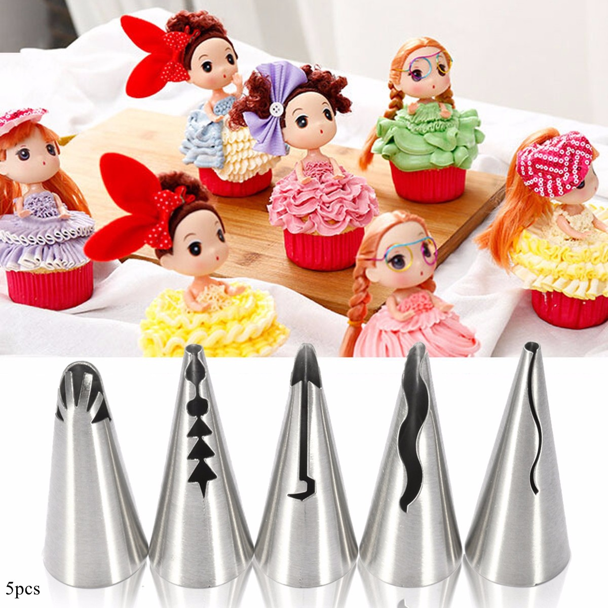 Cake Decorating Tips And Tricks : 5pcs Russian Skirt Icing Piping Nozzles Tips Flower Cake Decorating Baking Tools Lazada Malaysia