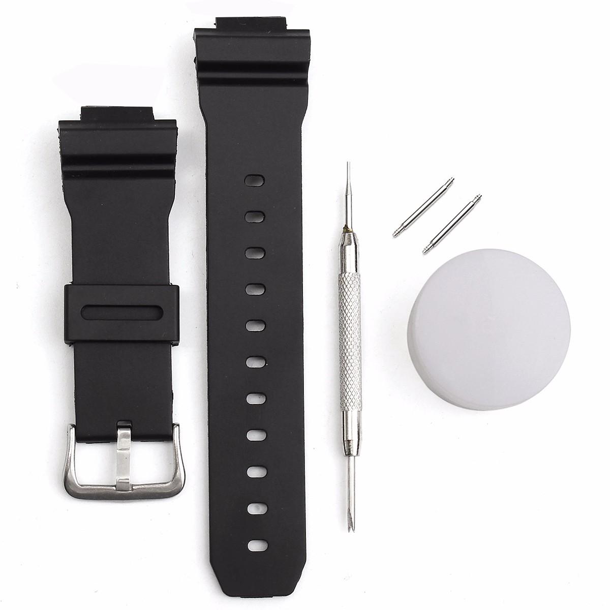Умные часы Сменный ремешок J3 для часов Casio G Shock DW-6900 с иголкой и шпильками (Фото 1)