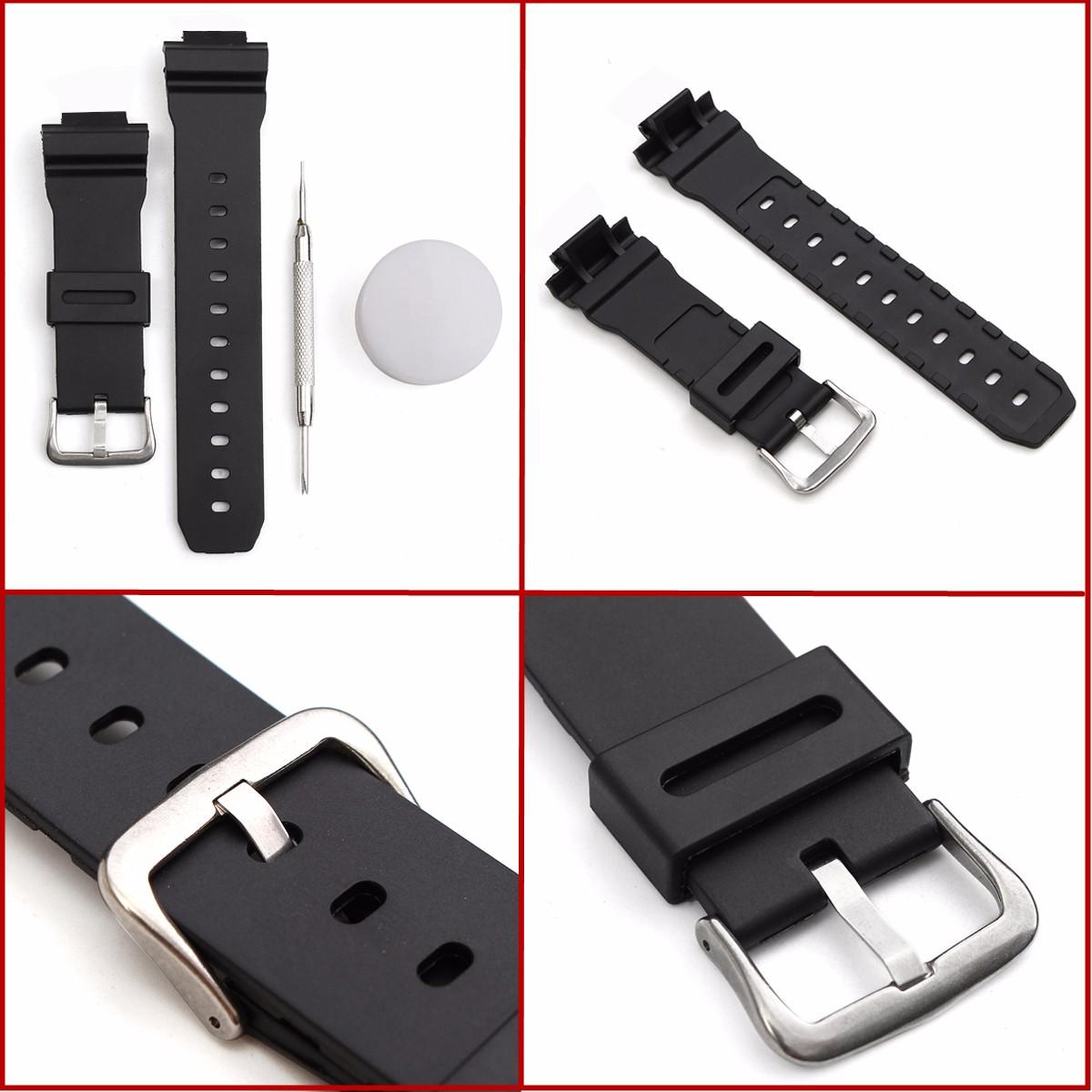 Умные часы Сменный ремешок J3 для часов Casio G Shock DW-6900 с иголкой и шпильками (Фото 2)