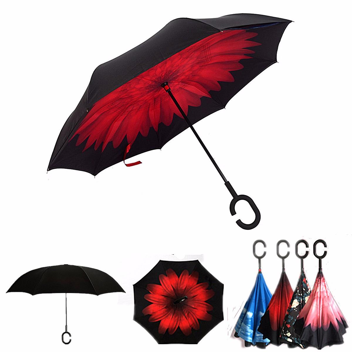 parapluie tanche inverse automatique anti uv pliable pluie soleil cr atif 106 80cm sakura. Black Bedroom Furniture Sets. Home Design Ideas