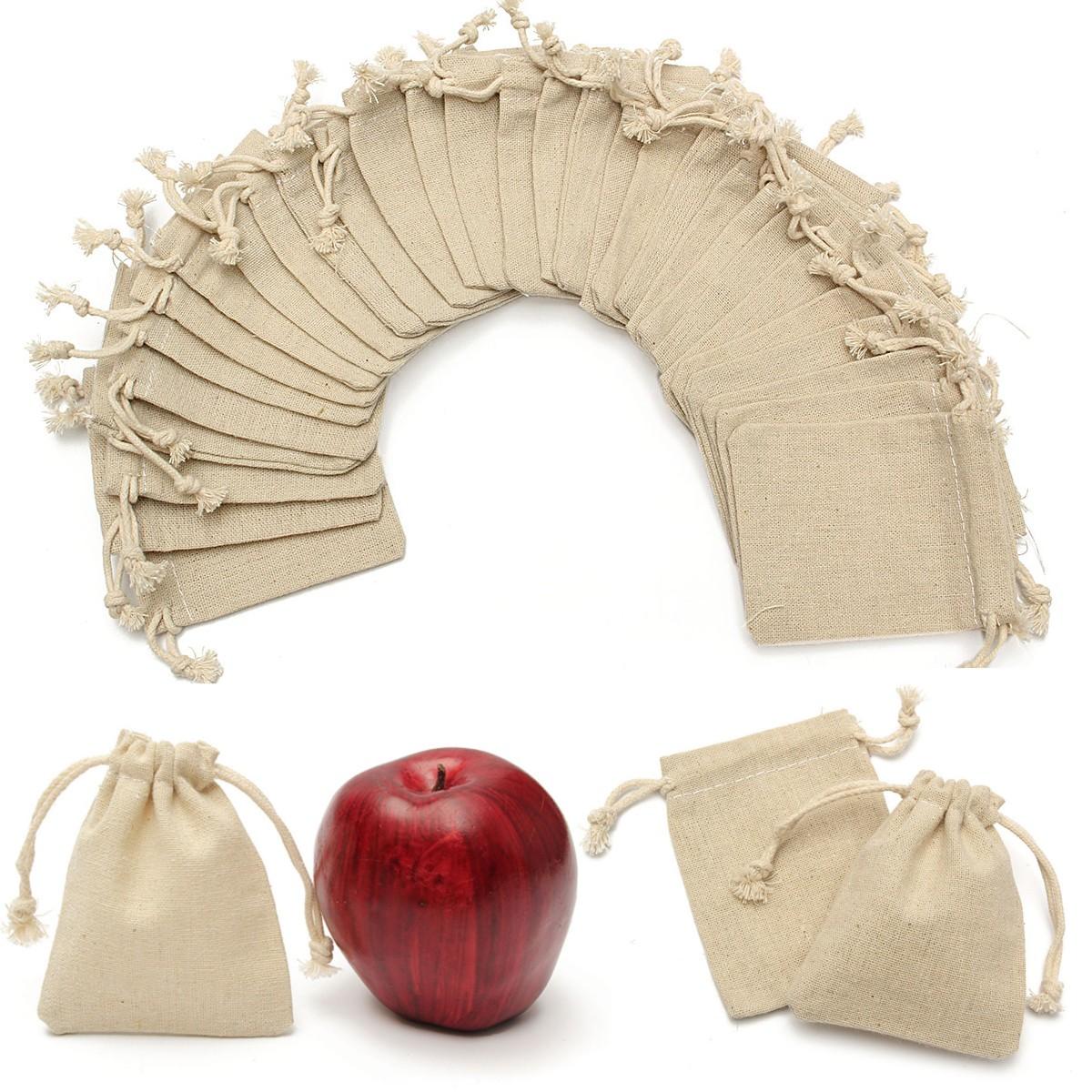 30pcs sac jute cordon de serrage cadeau rangement stockage pochette sachet. Black Bedroom Furniture Sets. Home Design Ideas