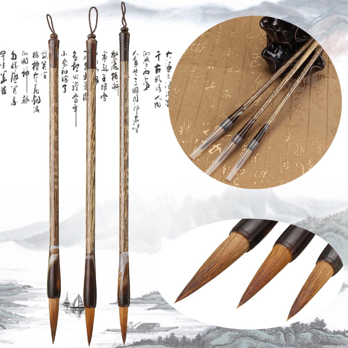 3 Size Chinese Writing Brush Calligraphy Pen Painting Art