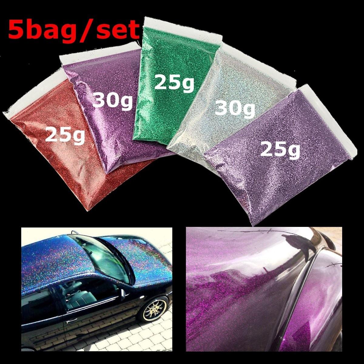 5x sac peinture m tal brillant paillette additif auto carrosserie voiture flake achat vente for Peinture a paillette avis