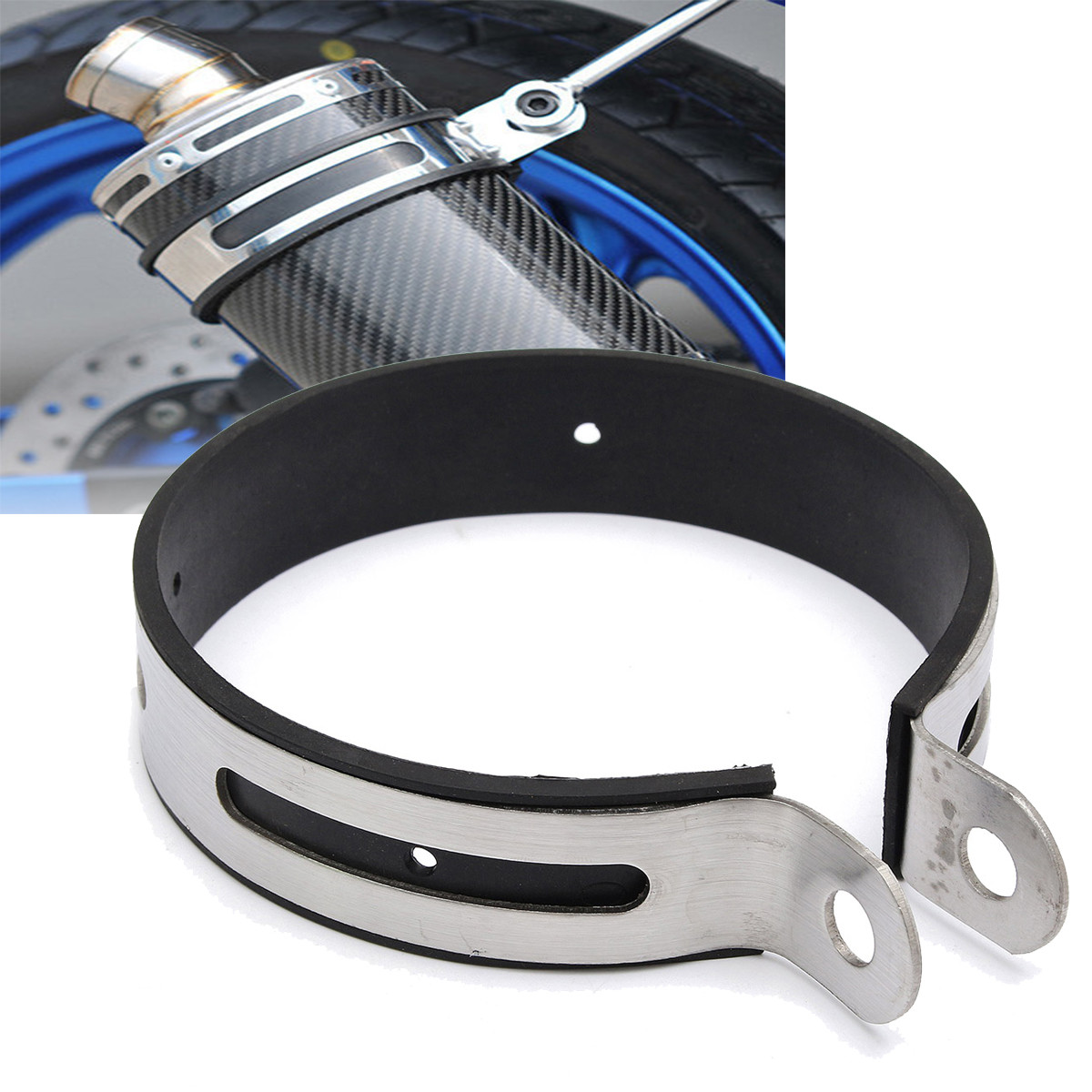 11cm diam 232 tre moto silencieux echappement exhaust sangle suspendue support rond achat vente