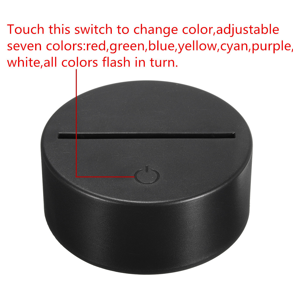 3D Illusion Wolf Head LED Lamp 7 Color Change Touch+ ...