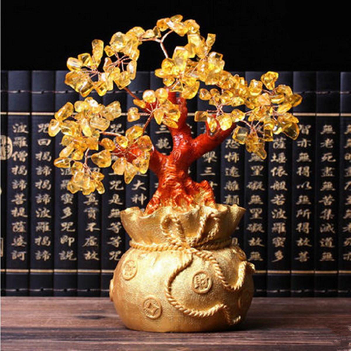 feng shui arbre en citrine gem chine d 39 arbre lucky porte bonheur decor maison. Black Bedroom Furniture Sets. Home Design Ideas