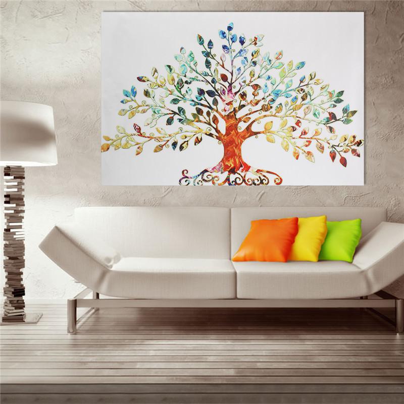 tempsa tableau peinture huile arbre abstrait en toile sans cadre art d cor murale achat. Black Bedroom Furniture Sets. Home Design Ideas