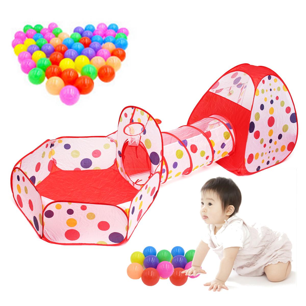 tente de jeu forme tunnel pour enfants b b jardin jouet rouge achat vente tente tunnel d. Black Bedroom Furniture Sets. Home Design Ideas
