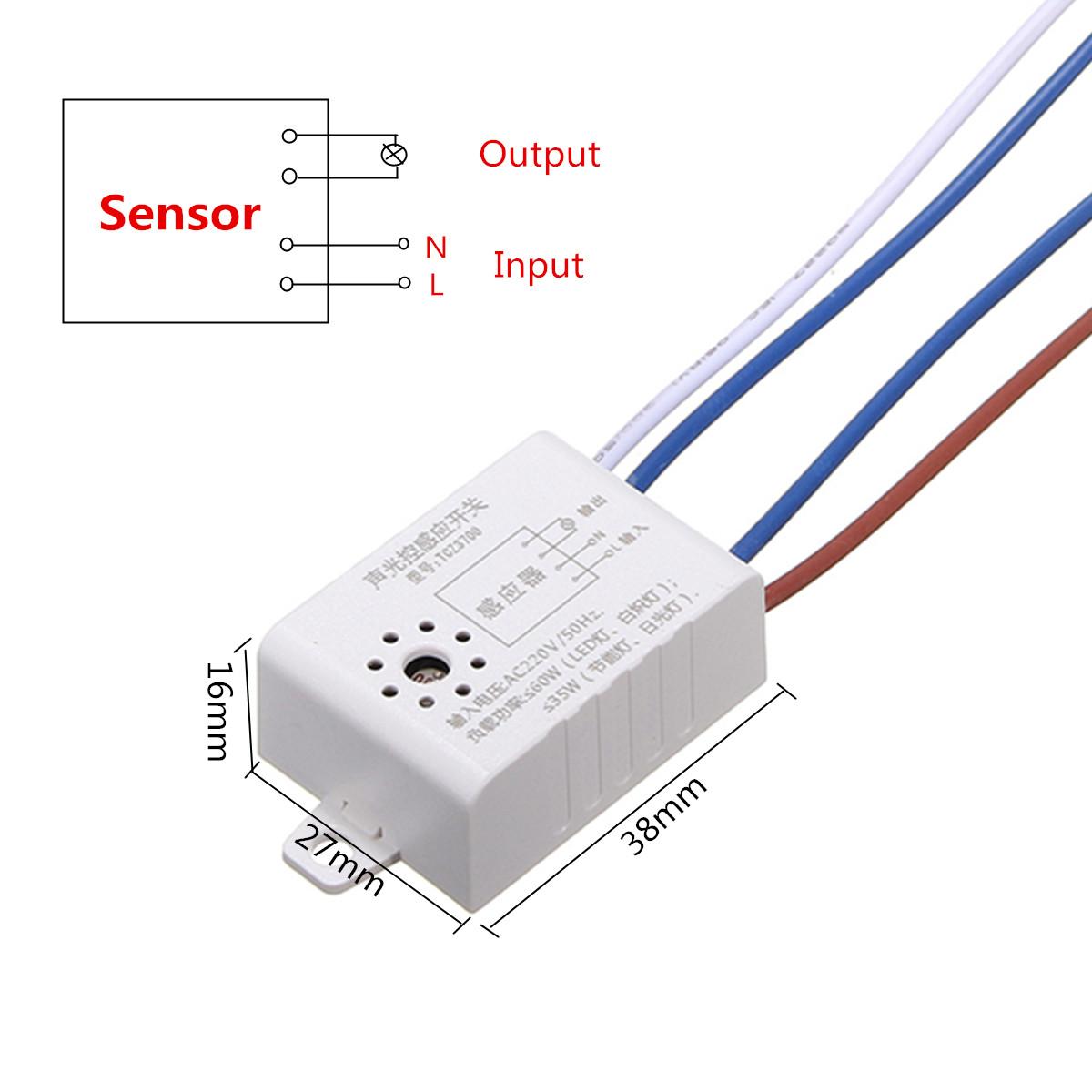 ac 220v intelligent contr le vocal lumi re capteur interrupteur pour led lampe. Black Bedroom Furniture Sets. Home Design Ideas