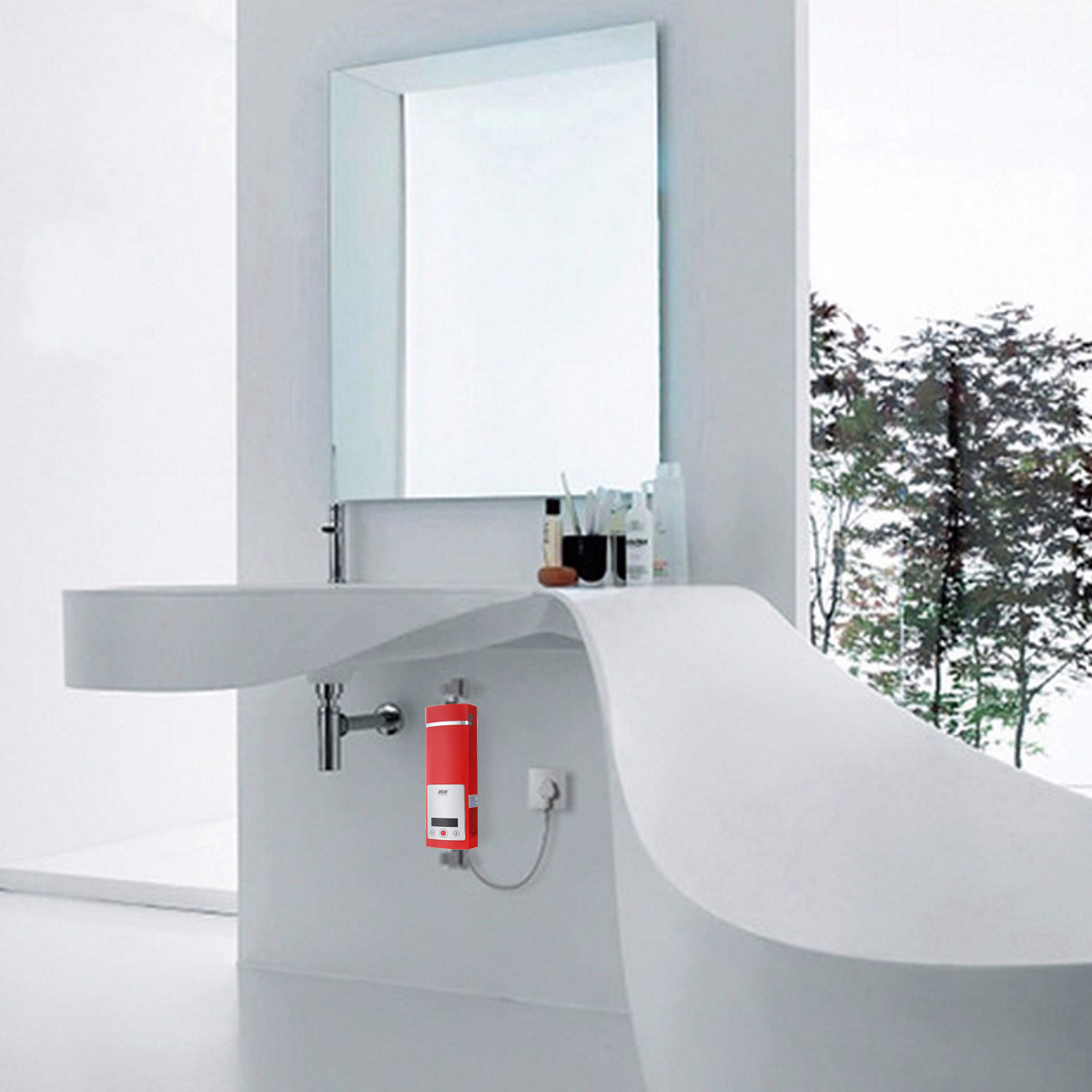 5500w lcd chauffe eau electrique r chauffeur instantan douche vier robinet achat vente. Black Bedroom Furniture Sets. Home Design Ideas