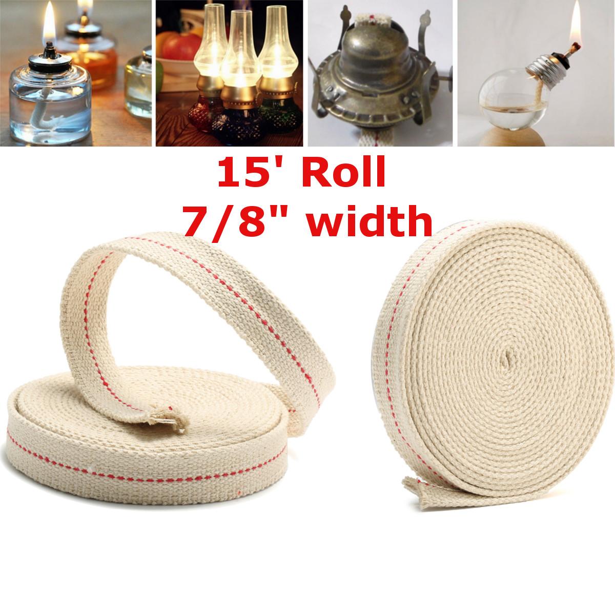 Éclairage Wick Rouleau Pétrole Coton pour Lampe à Huile Lanternes Utile Maison