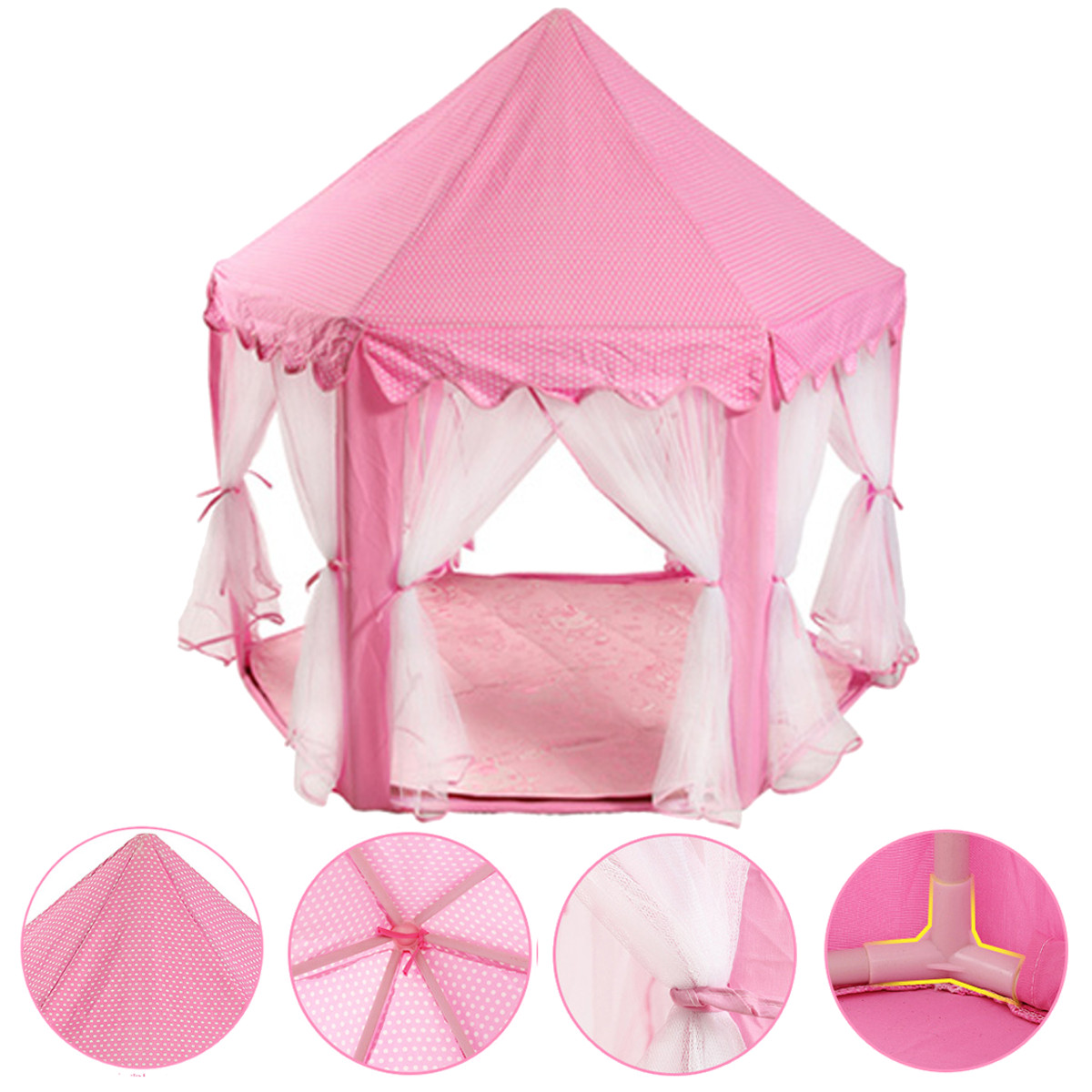 tente de jeu ch teau tipi camping princesse fille rose. Black Bedroom Furniture Sets. Home Design Ideas