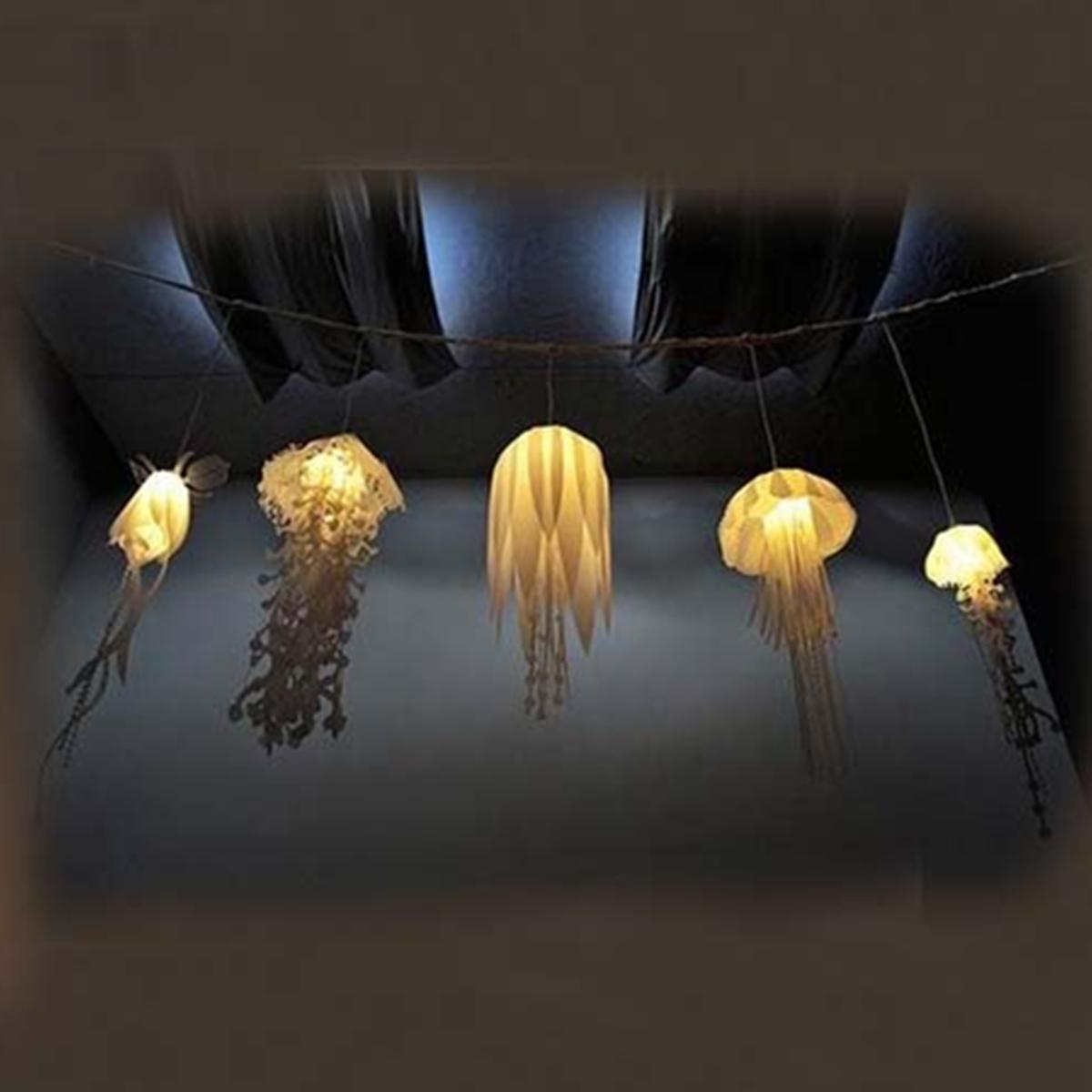 led lampe de plafond suspension lustre abat jour m duse. Black Bedroom Furniture Sets. Home Design Ideas