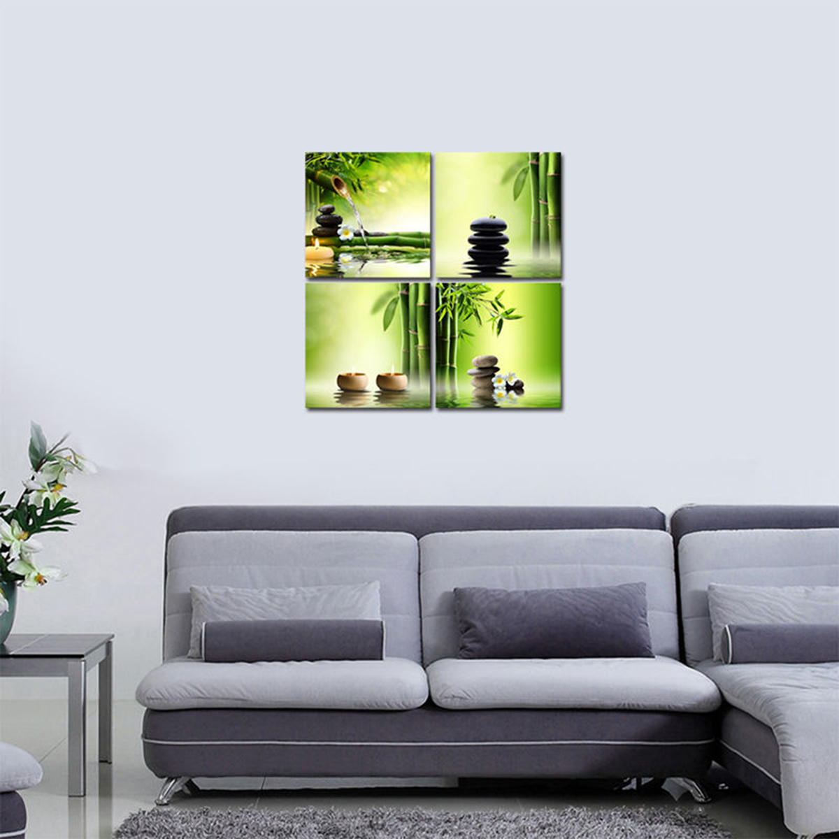 Kilimall canvas print pic painting home decor wall art for Bamboo decorations home decor