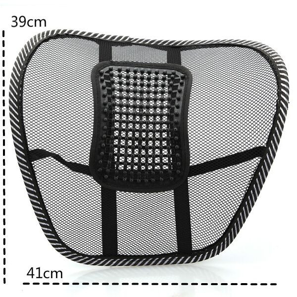 Car Chair Mesh Seat Back Support Lumbar Massage Cushion Mesh Lumbar Back Brac