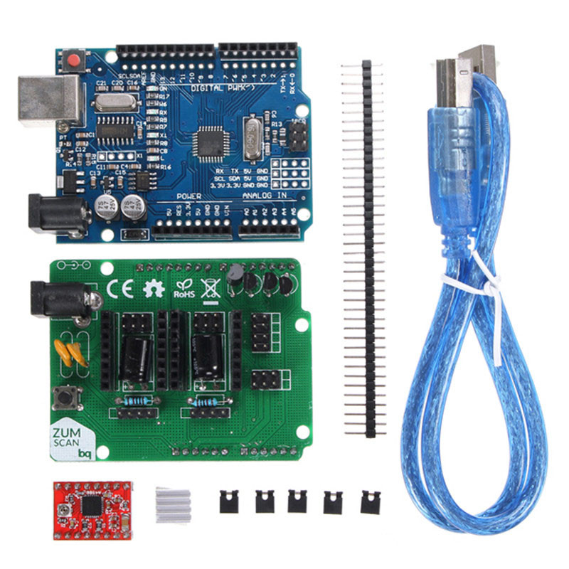 3D Printer Parts For Ciclop 3d Scanner Open Source DIY Accessories, For UNO  controller and for ZUM Scan Expansion Board Module