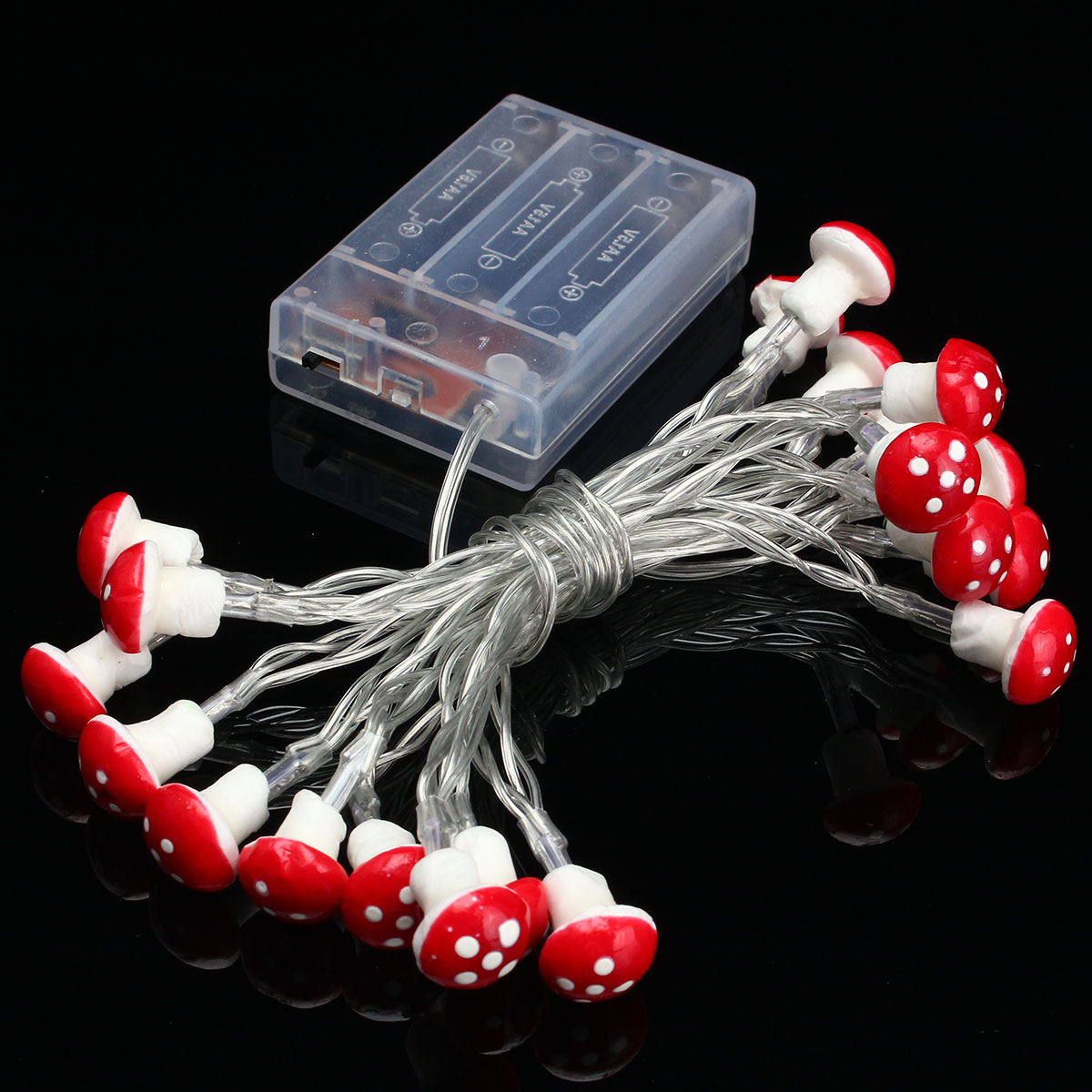 Outdoor String Lights With Batteries : 2M 20 LED Mushroom Fairy String Light Lamp Battery Outdoor Garden Party Decor Pure White ...