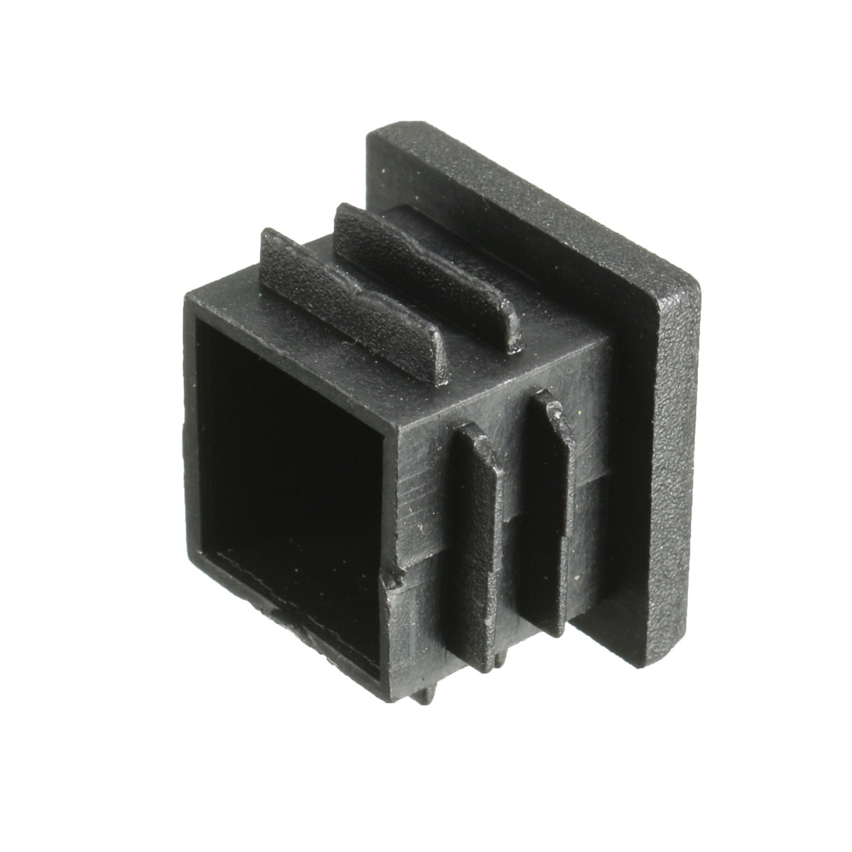 Plastic black blanking end cap square inserts plug cover