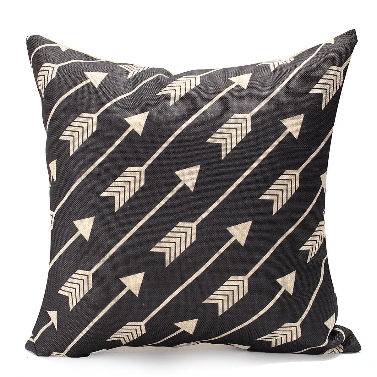 Black Cotton Throw Pillows : Vintage Geometry Black&White Cotton Throw Cushion Cover Pillow Case Home Decor #04 Lazada Malaysia