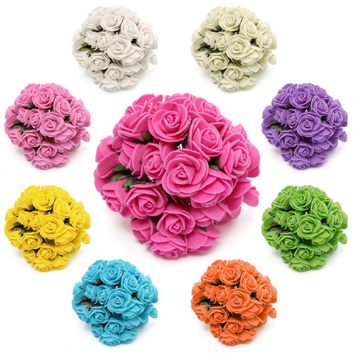 Type 1 ZYYXB 144 Pcs Artificielle Papier Fleur Mini Multicolore Bouquet De Mariage D/écoration de La Maison Scrapbooking DIY Couronne Faux Fleur