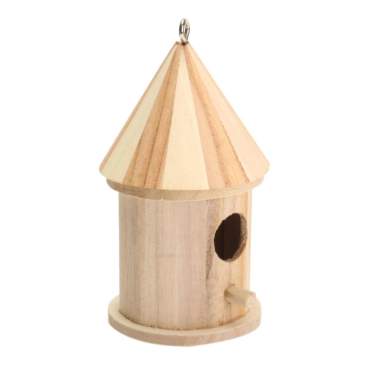 New Wooden Bird House Birdhouse Hanging Nest Nesting Box