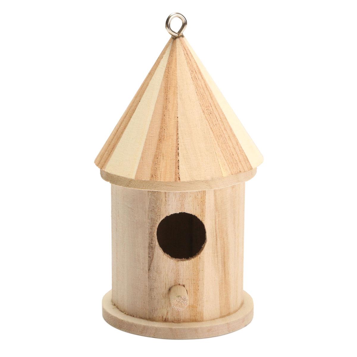 New wooden bird house birdhouse hanging nest nesting box for Oiseau decoration jardin