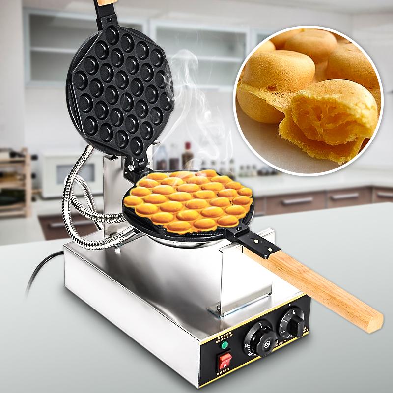 110V/220V Gaufrier Electrique Oeuf Gâteau Four QQ Egg Waffle Baker ...