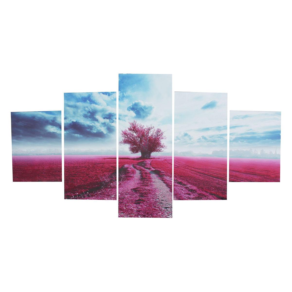 tempsa 5pcs tableau huile toile arbre violet moderne art décor