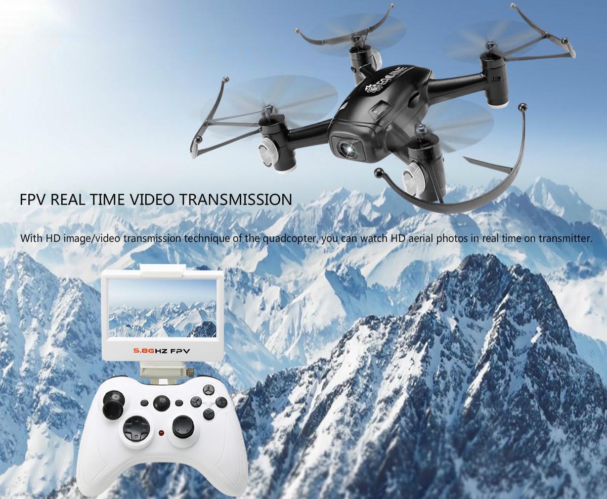 EACHINE E40G 5.8G FPV Quadcopter Drone With 720P Wide Angle HD Camera And Screen On Remote Control Quadcopter RTF Mode 2