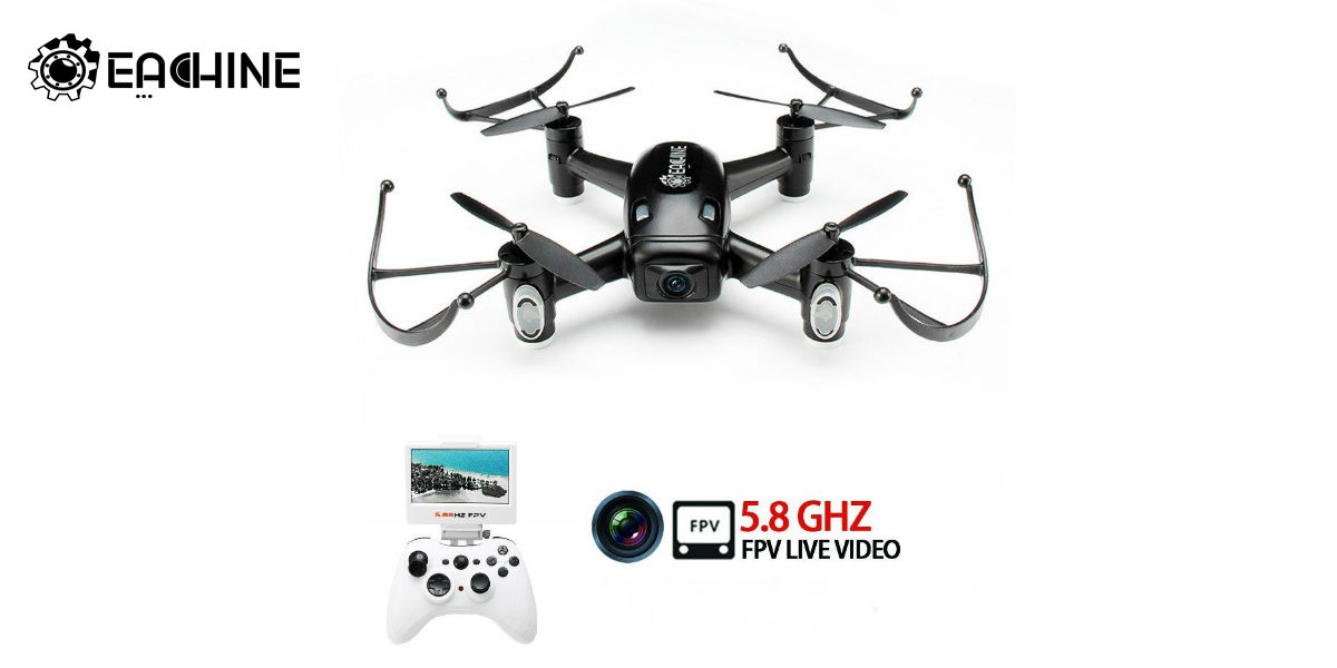 EACHINE E40G 5.8G FPV Quadcopter Drone With 720P Wide Angle HD Camera And Screen On Remote Control Quadcopter RTF Mode 2