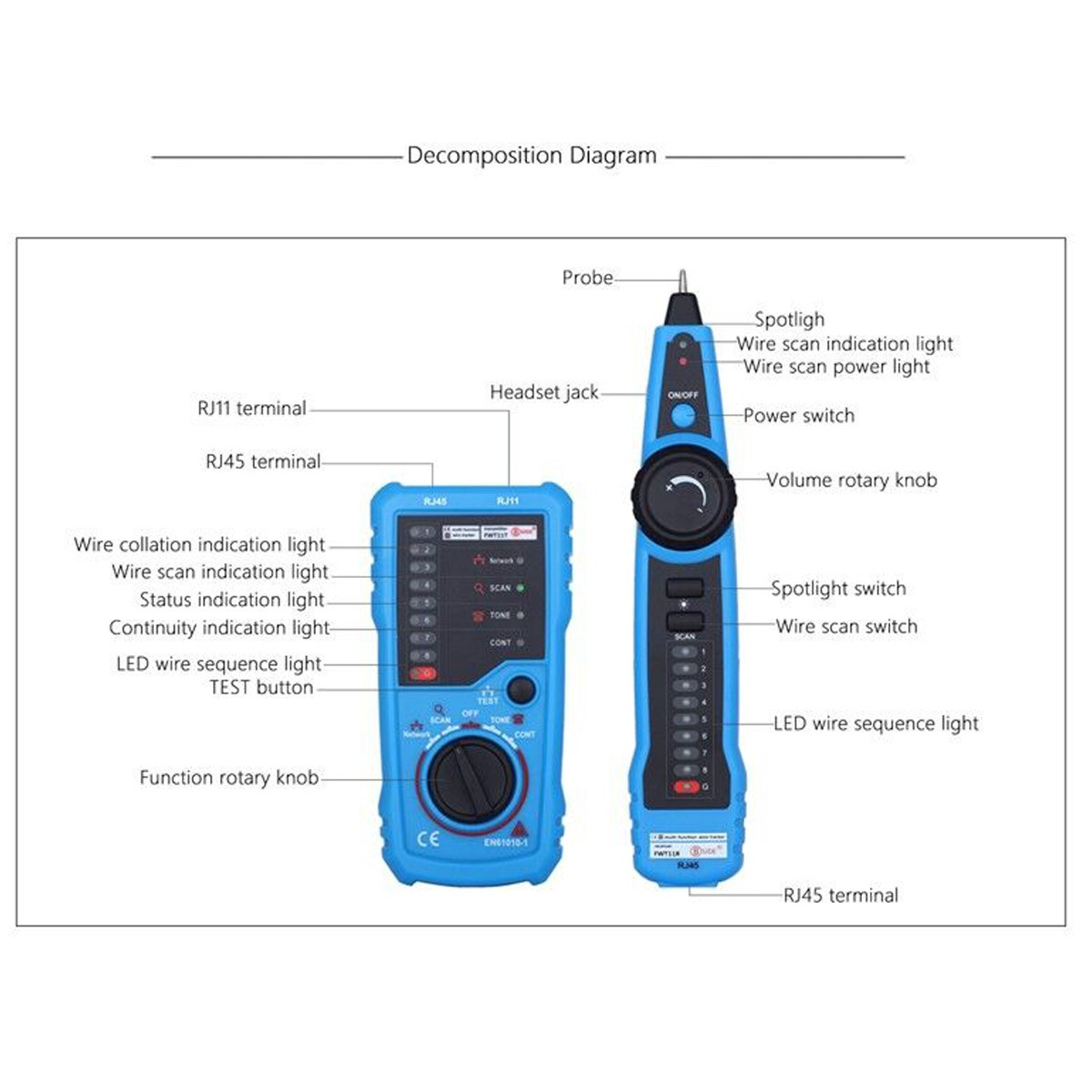 cd7b07fa 7ccf d6e1 12b8 3d20afc9b19c elegiant rj11 rj45 cable tester multifunction wire tracker check rj11 to rj45 wiring diagram at suagrazia.org