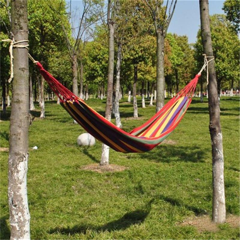 CAMTOA Outdoor Furniture Leisure Canvas Hammocks 175cm