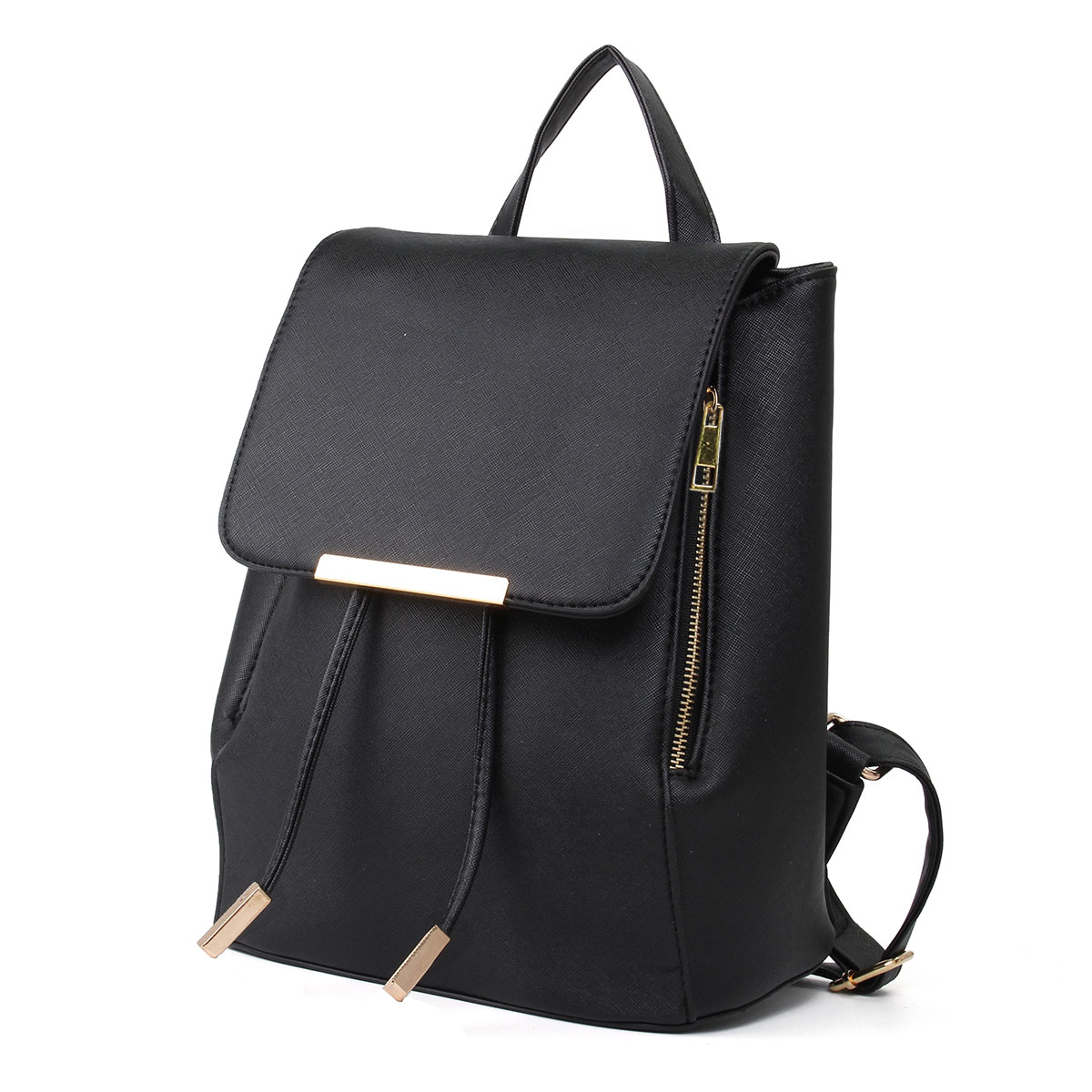 Women Backpack Pu Leather Mochila Escolar School Bags For