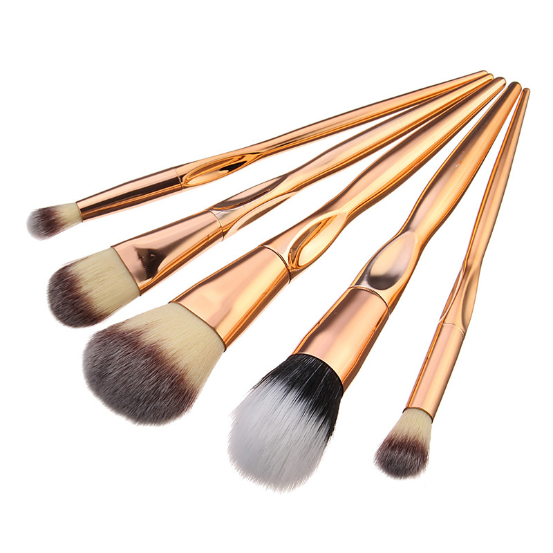 Generic 5pcs Makeup Brushes Set Face Blush Blending