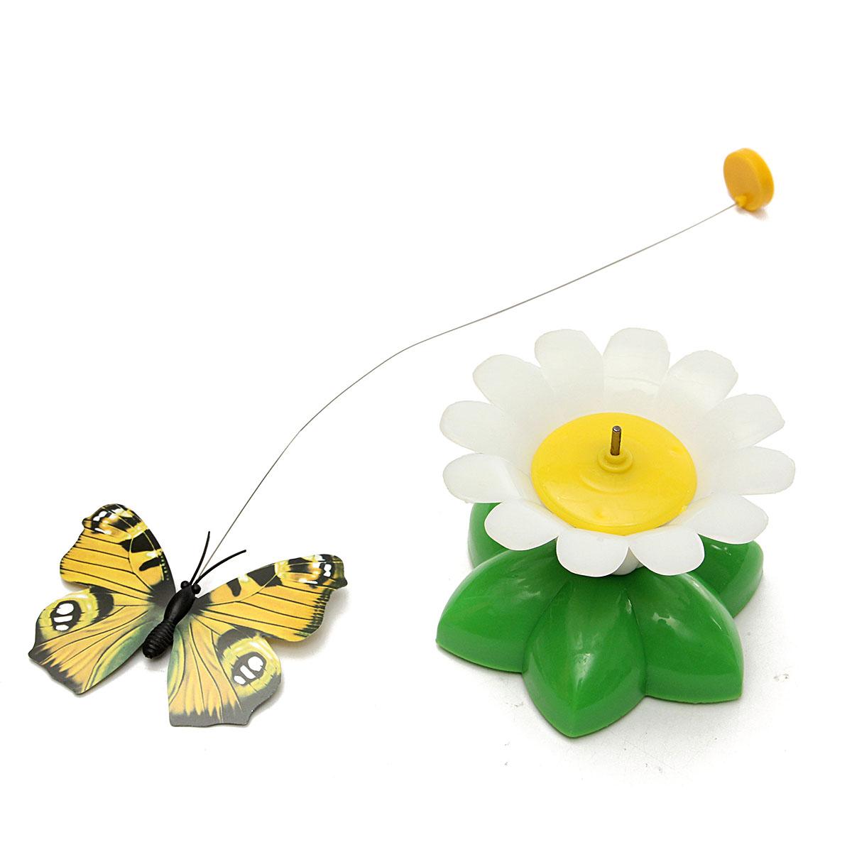 jouet chat fleur papillon