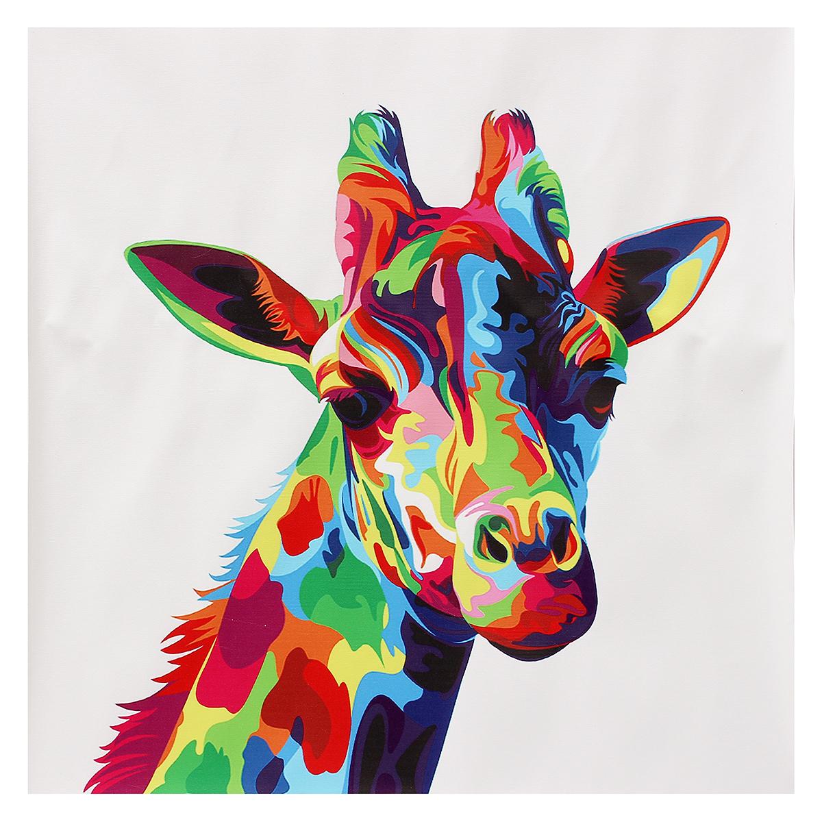 Tempsa Peinture L 39 Huile Toile Girafe Tableau Moderne D Cor Mural Chambre Sans Cadre Achat