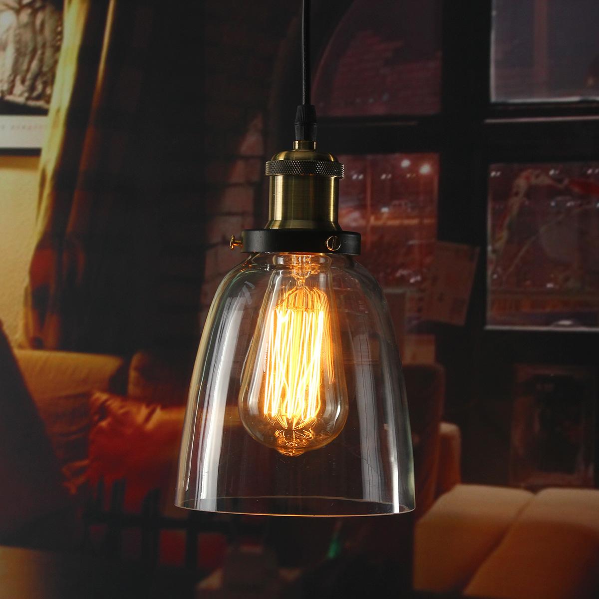 u e27 m tal r tro suspensions luminaire vintage industrielle verre 20 20 achat vente u e27. Black Bedroom Furniture Sets. Home Design Ideas