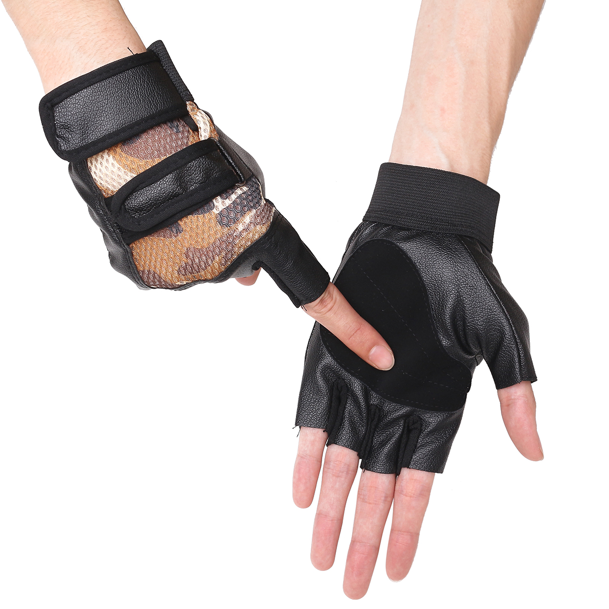 Aqf Weight Lifting Gloves Ultralight Breathable Gym Gloves: Adjustable Leather Fitness Sports Gym Weight Lifting Half
