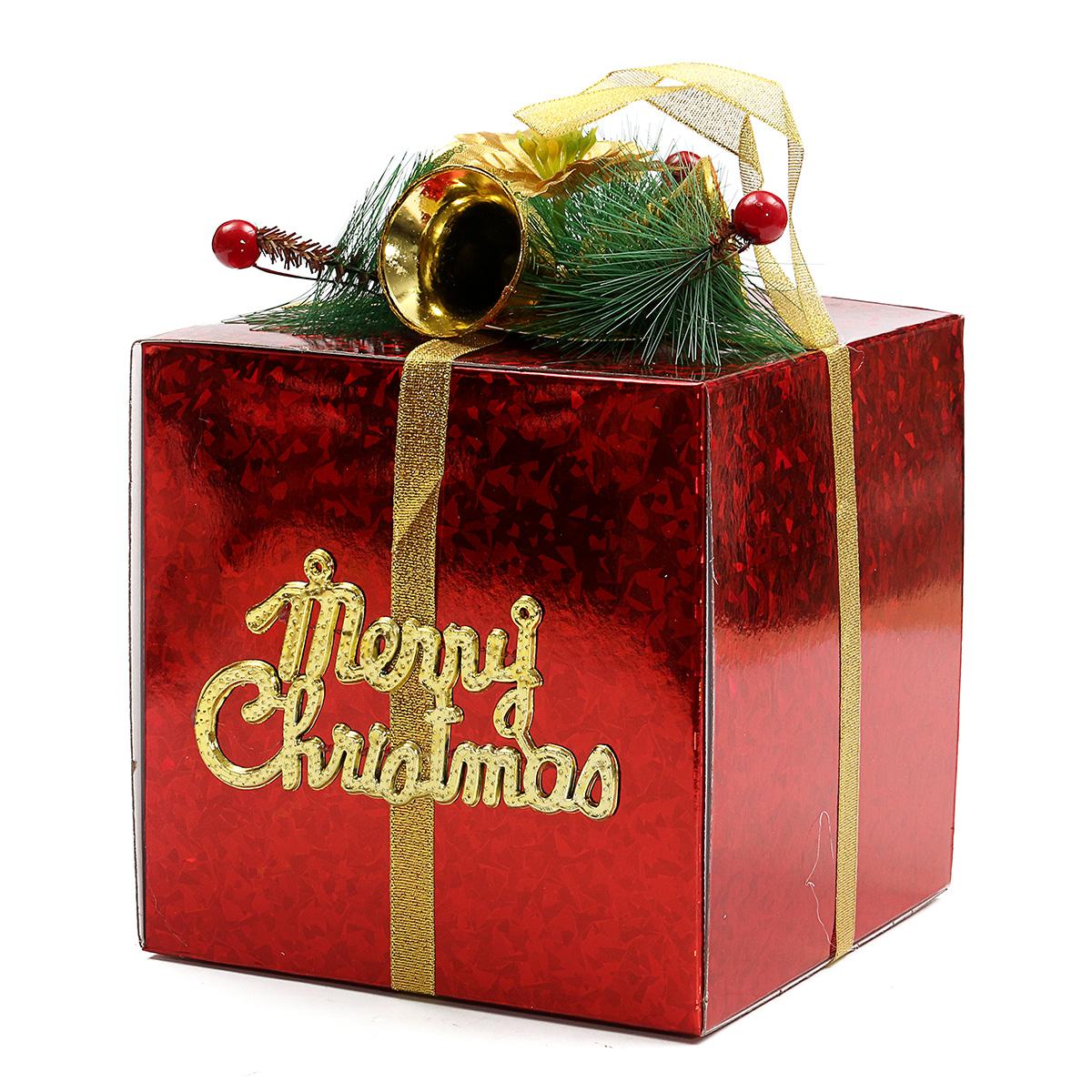 Gift Box Decoration Ideas: Glitter Christmas Gift Present Packing Box Ornament Xmas