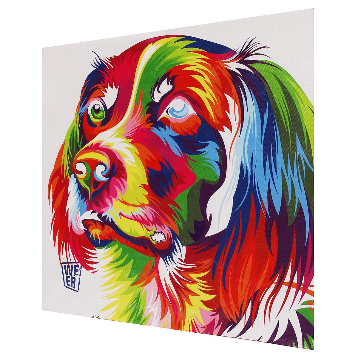 tempsa tableau peinture motif de chien color en toile mural pour d cor achat vente tableau. Black Bedroom Furniture Sets. Home Design Ideas