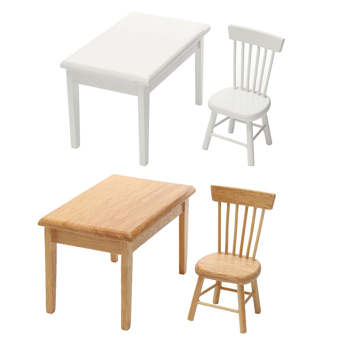 tempsa set de mini table chaise pour meuble de maison poup e couleur de bois achat vente. Black Bedroom Furniture Sets. Home Design Ideas